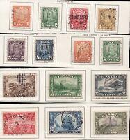 Used 1928 Scroll Issue Set w/ 158 Bluenose - Canada  - VF - superfleas - cv$293