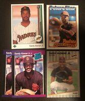 Sandy Alomar Jr Rookie Card Lot of 5 -  San Diego Padres  -  Legend      NM-MT