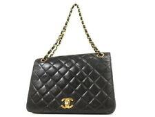 6cadebe9e5e9 CHANEL VINTAGE BLACK CLASSIC LAMBSKIN DOUBLE FLAP COCO SHOULDER BAG