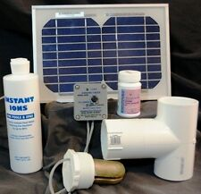SOLAR POWERED DELUXE SPA IONIZER MODEL SSDSWS Electrodes with Silver