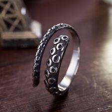 Vintage Men Women Rings Titanium Steel Octopus Punk Adjustable Open Ring Jewelry