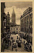 Den Haag Niederlande Postkarte ~1950/55 Groenmarkt en Toren St. Jakobskerk Autos