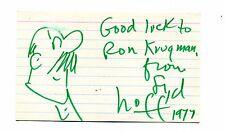 Vintage Original Autograph &  Drawing Cartoonist SYD HOFF Danny & the Dinosaur