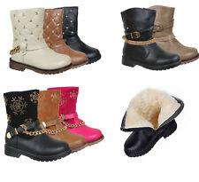 Kinder Schuhe Stiefel Stiefeletten für Mädchen Warm gefüttert Winterschuhe