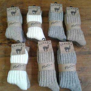 2 Paar Alpaka Socken 52 % Wolle Wollsocken 40 % Alpaka gestrickt Wolle Strümpfe