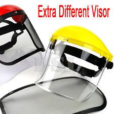 Clear + Mesh Full Visor Flip Up Face Shield Screen Safety Mask Eye Protector UK