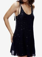 Free People Intimately Just Watch Me Slip Mini Dress In Black Size Small NWT
