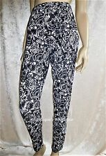 MONSOON BLACK CREAM GREY SOFT JERSEY BELTED TROUSERS SIZE S, M, L,  8 TO 18 NEW