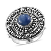 Platinum Over 925 Sterling Silver Kyanite Solitaire Ring Jewelry Size 6 Ct 2.9
