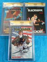 Blackhawk (1988) #1-3 set - DC - CGC SS 9.6 9.8 9.8 - Signed by Howard Chaykin