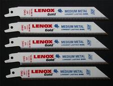 "5 x LENOX 618G TITANIUM EDGED RECIPROCATING SAW BLADES 152mm 6"" 18TPI"