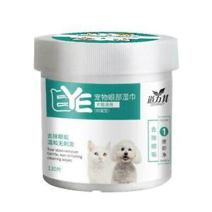 New Wipes Wet Pet Eye Dog Cat Tear Stain Remover Cleaning Towels Fast