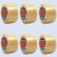 (0,05€/1m) 6x tesa 4124, PVC-Packband Paketband Verpackungsband, ultra strong