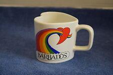 Collectible Heart Shaped Barbados Souvenir Coffee Mug / Cup