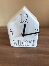 Rae Dunn Welcome Birdhouse Clock New.