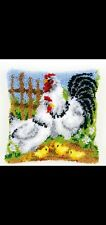New listing Latch Hook Pillow Kit - 15.7 X 15.7 Inches - Chicken Family