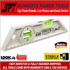 """STABILA 250mm ALL ROUND SPIRIT LEVEL WITH ANGLE MEASURE 10"""" 2 VIAL 104/25 - New"""