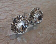 HYPOALLERGENIC Stud Earrings  Swarovski Elements Crystal CLEAR with Rhinestones