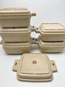 Vintage Lot of Littonware Microwave Oven Casserole Dishes Lids 1 Qt 1.5 Qt