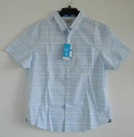 Original Penguin Men's Horizontal Stripe Shirt Short Sleeve Size Large XL Slim