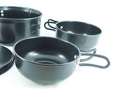 Royal Non-Stick Camping Travel Cookset Lightweight Pans Lid Cookware 4 Piece