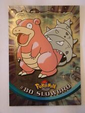 #80 Slowbro Foil/Holo - 2000 Topps Pokemon Series 2 Official Trading Card Mint