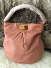 NWT Marc Jacobs Hobo Shoulder Crossbody Bag Purse In Pink Blush Pebbled Leather