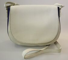 SPORTSCRAFT GENUINE LEATHER BAG New with tag white-blue colour one long handle