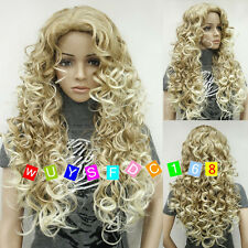Ladies Fashion wig Charm Women's Long Mix Blonde Curly Natural Hair wigs