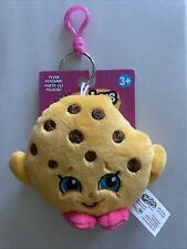 Shopkins Plush Toy Keychain Kookie Cookie Backpack Clip Hanger New