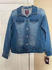 Gloria Vanderbilt  Blue denim button down jean jacket pockets size Small NWT