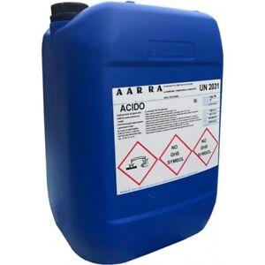 25 kg ACIDO CLORIDRICO 33% Disincrostante detergente per pulizia piscina