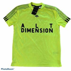 Alexander Wang x Adidas t-shirt tee Neon Yellow Jersey soccer sport unisex Sz S