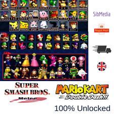 GAMECUBE Super Smash Bros Melee & Double Dash MEMORY CARD -GAMES FULLY UNLOCKED-