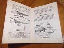 Yugoslavia JNA army M84 manual Ex Yugo M84 manual