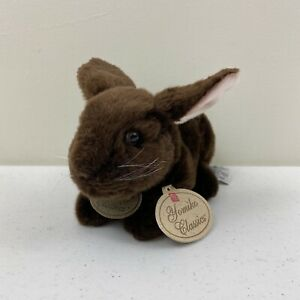 Russ Yomiko Classics Dutch Bunny Chocolate Brown Plush Toy Stuffed Animal