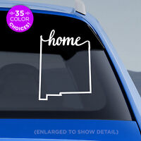 """New Mexico State """"Home"""" Decal - NM Home Car Vinyl Sticker - add heart to a city!"""