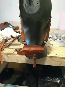 COLT 1911 Leather  Shoulder Holster with double Magazine