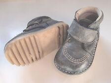 Zapato tipo bota para niño o niña, color azul, talla 19. In extenso