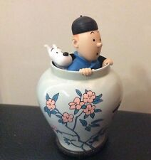 Extremely Rare! Tintin with Snowy in Flowerpot LE of 2800 Figurine Statue