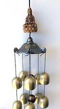 1 x Quan Yin Brass Bells Wind Chime Feng Shui Ornament