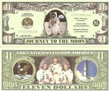 Apollo 11 Journey to the Moon Landing Dollar Bills x 2 Armstrong Collins Aldrin