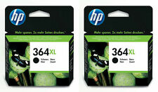 2x Genuine HP 364XL Black Ink Cartridge for PhotoSmart 5510 5520 6520 7520 B110a