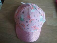 Baby Girls M/&S PEPPA PIG Rainbow Pink Cotton Bucket Sun Hat Age 3-6 Months BNWT