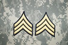 US Army Sergeant Rank / E-5 Dress Military Patch Rank Sew on Authentic USED