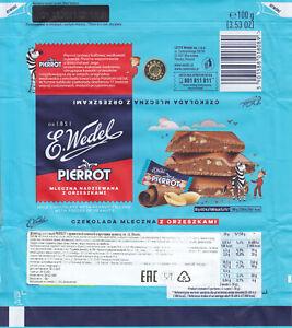Chocolate Wrapper Wedel Poland Milk Peanuts