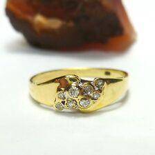 Ring 56 (17,8 mm Ø) 585/14k Gold Brillanten 0,09 ct Diamanten