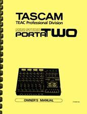 Tascam Porta TWO Mini Studio OWNER'S MANUAL