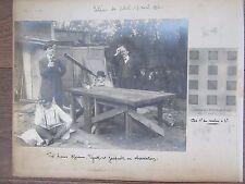 PHOTO ANCIENNE 1912 ASTRONOMES  LUNETTE OBSERVATION ECLIPSE DE SOLEIL 7 AVRIL