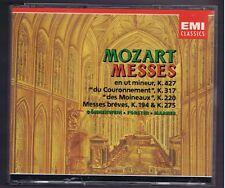 MOZART BOX SET 2 CDs MESSES K 427. 317. 220. 194.275/EDITH MATHIS/ AGNES GIEBEL